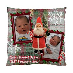 Santa Brought Us The Best Present In 2010 Pillow Case Cover By Ellan   Standard Cushion Case (two Sides)   1lw15bw90dks   Www Artscow Com Front