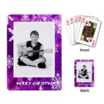 merry christmas funky snowflake playing cards - Playing Cards Single Design