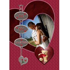 Be My Valentine Card By Lil    Greeting Card 5  X 7    Ighd4in5h0ao   Www Artscow Com Front Cover