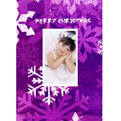 Funky Purple Merry Christmas Snowflake Christmas Card By Catvinnat   Greeting Card 5  X 7    D7pmbjlzbfns   Www Artscow Com Front Cover