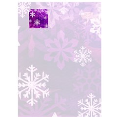 Funky Purple Merry Christmas Snowflake Christmas Card By Catvinnat   Greeting Card 5  X 7    D7pmbjlzbfns   Www Artscow Com Front Inside