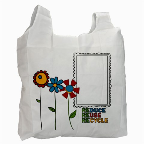 Reduce Reuse Bag Photo By Albums To Remember   Recycle Bag (one Side)   Se18wn5vdkqp   Www Artscow Com Front