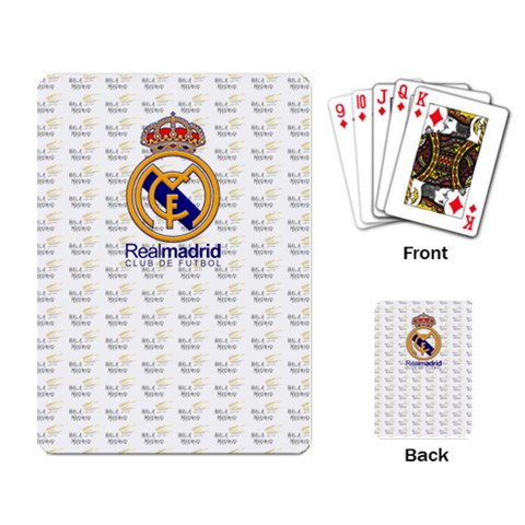 Real Madrid Cards By Anton   Playing Cards Single Design   Jadsfkxtgws4   Www Artscow Com Back