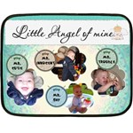 Little Angel of Mine Boy Mini Fleece Blanket - Fleece Blanket (Mini)
