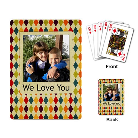 Diamond Fun By Albums To Remember   Playing Cards Single Design   03fl19svermg   Www Artscow Com Back