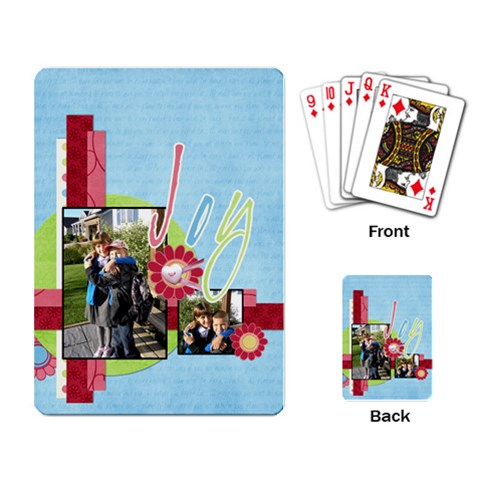 Joy Cards By Albums To Remember   Playing Cards Single Design   Khlsplvgt022   Www Artscow Com Back
