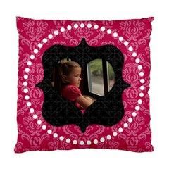 Pink And Black Heart 2 Sided Cushion By Klh   Standard Cushion Case (two Sides)   8fte2wu4vry4   Www Artscow Com Front