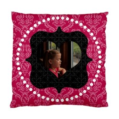 Pink And Black Heart 2 Sided Cushion By Klh   Standard Cushion Case (two Sides)   8fte2wu4vry4   Www Artscow Com Back