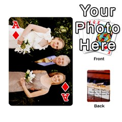 Ace Wedding Cards By Emma   Playing Cards 54 Designs   W89qejs8gkhs   Www Artscow Com Front - DiamondA