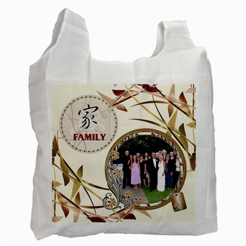 Family Recycle Bag By Lil    Recycle Bag (one Side)   Wi492xl69ik8   Www Artscow Com Front