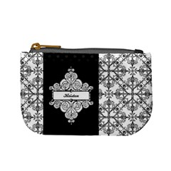 Black & White Mini Coin Purse By Klh   Mini Coin Purse   S8fkjx13aevy   Www Artscow Com Front