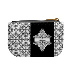 Black & White Mini Coin Purse By Klh   Mini Coin Purse   S8fkjx13aevy   Www Artscow Com Back