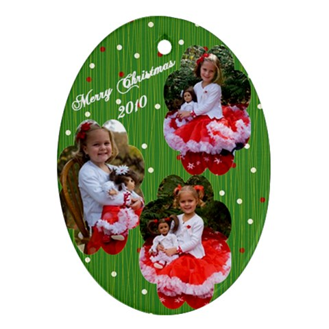 Girls By Lisa   Ornament (oval)   26u5hkl0b43j   Www Artscow Com Front
