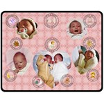 Baby Girl Medium Fleece Blanket - Fleece Blanket (Medium)