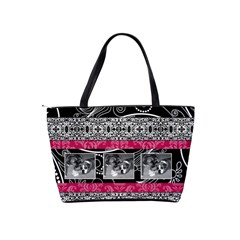 Pink, Black, & White Classic Shoulder Handbag By Klh   Classic Shoulder Handbag   Aczkb21m2roa   Www Artscow Com Back