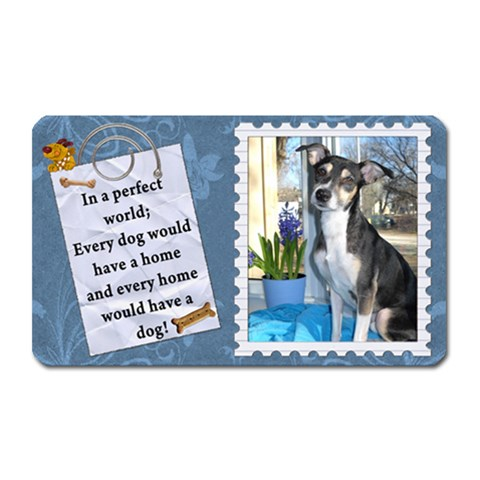 Dog Rectangle Magnet By Lil    Magnet (rectangular)   8l0rbqkfllld   Www Artscow Com Front