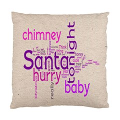 Santa Baby Fantasia Purple Swirls Cushion 2 By Catvinnat   Standard Cushion Case (two Sides)   7gomhpie7ot4   Www Artscow Com Front