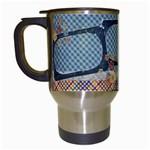 Love, Flowers Travel Mug - Travel Mug (White)
