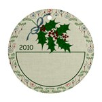 Christmas Holly Ornament - Ornament (Round)