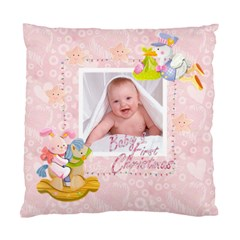Blanky Bunny Pink Baby s First Christmas Cushion 2 By Catvinnat   Standard Cushion Case (two Sides)   A07p700hoef5   Www Artscow Com Front