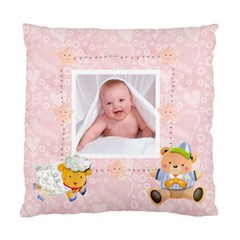 Blanky Bunny Pink Baby s First Christmas Cushion 2 By Catvinnat   Standard Cushion Case (two Sides)   A07p700hoef5   Www Artscow Com Back