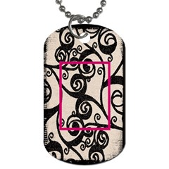 Breast Cancer Pink Ribbon Dog Tag 2 By Catvinnat   Dog Tag (two Sides)   Dt2u8r8s2tgw   Www Artscow Com Back