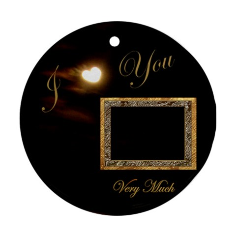 Love I Heart You Moon Ornament Round By Ellan   Ornament (round)   P5kqvd1gnpe7   Www Artscow Com Front