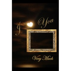 I Heart You Moon Gold Interior Love Personal Notebook By Ellan   5 5  X 8 5  Notebook   Vo55h2gwc3nd   Www Artscow Com Front Cover