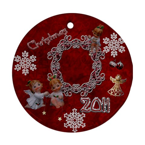 Angels W Stars 2010 30 Ornament Round By Ellan   Ornament (round)   3q8e0oy2eeyy   Www Artscow Com Front