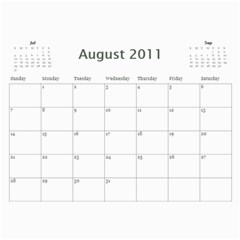 Calander By Janelle   Wall Calendar 11  X 8 5  (12 Months)   Pgjgdghf9c1f   Www Artscow Com Aug 2011