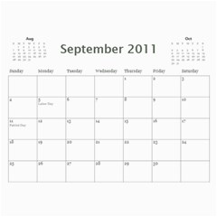 Calander By Janelle   Wall Calendar 11  X 8 5  (12 Months)   Pgjgdghf9c1f   Www Artscow Com Sep 2011