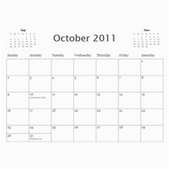 Calander By Janelle   Wall Calendar 11  X 8 5  (12 Months)   Pgjgdghf9c1f   Www Artscow Com Oct 2011