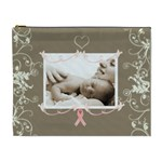 Breast Cancer Pink Ribbon Cosmetic Case - Cosmetic Bag (XL)