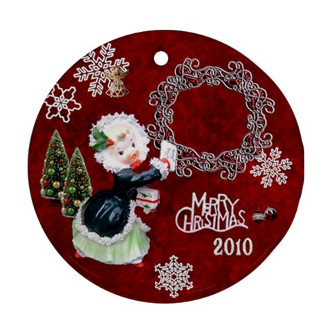 Thank You  Girl 2010 30 Ornament Round By Ellan   Ornament (round)   8sl26jjetbdk   Www Artscow Com Front
