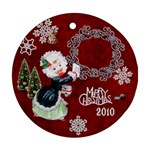 Thank you  girl 2010 30 ornament round - Ornament (Round)