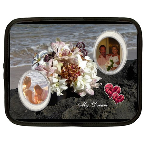 My Dream Bridal Boquet Extra Large Netbook Case By Ellan   Netbook Case (xxl)   Csci78tjb42u   Www Artscow Com Front