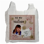 #1 Teacher Recycle Bag - Recycle Bag (One Side)