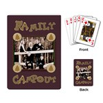 family campout-camping cards template - Playing Cards Single Design
