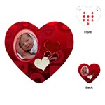 Red Love heart Playing Cards - Playing Cards (Heart)