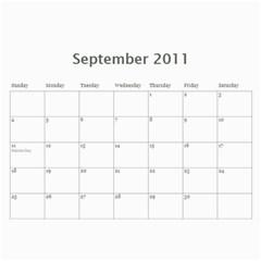 Calendar 2011 By Amanda   Wall Calendar 11  X 8 5  (12 Months)   0h63q180rcj5   Www Artscow Com Sep 2011