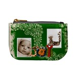 SNOWMAN JOY GREEN SWIRLS MINI PURSE - Mini Coin Purse