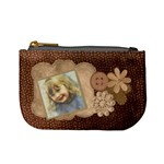 Brown Floral Coin purse - Mini Coin Purse