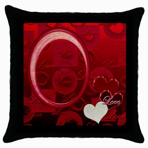 I Heart You 22 Red Throw Pillow Case 18 Inch By Ellan   Throw Pillow Case (black)   5jous27i822n   Www Artscow Com Front