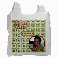 Jolly Christmas Recycle Bag (2 Sides) By Jen   Recycle Bag (two Side)   Wwzu5m6e63pz   Www Artscow Com Front