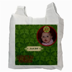 Jolly Christmas Recycle Bag (2 Sides) By Jen   Recycle Bag (two Side)   Wwzu5m6e63pz   Www Artscow Com Back