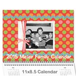 2015 Family Calendar - Wall Calendar 11  x 8.5  (12-Months)