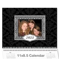 2015 Black & White 12 Month Calendar By Klh   Wall Calendar 11  X 8 5  (12 Months)   5k1qjav2p8wa   Www Artscow Com Cover