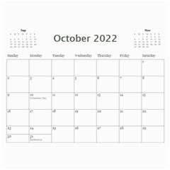 2015 Black & White 12 Month Calendar By Klh   Wall Calendar 11  X 8 5  (12 Months)   5k1qjav2p8wa   Www Artscow Com Oct 2015