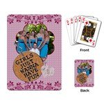Girls Just Wanna Have Fun Playing cards - Playing Cards Single Design