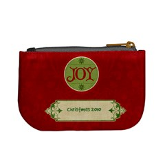 Merry Christmas Mini Coin Purse (red) By Jen   Mini Coin Purse   Nlaxyiysreed   Www Artscow Com Back